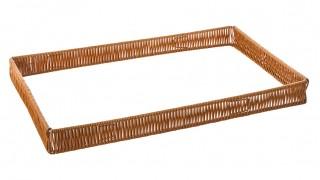 Рамка пластиковая под гастроемкость GN1/1 520х320х50 мм коричневая [Beige ST-005]